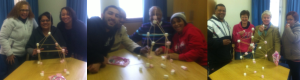 A recent group doing quite well with their spaghetti-marshmallow towers.