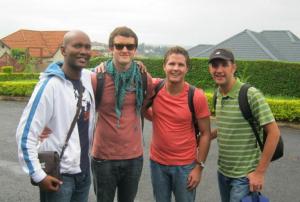 A recent photo of Robert Ramwisa in Kigali, Rwanda with a few mission team members from Shofar Johannesburg visiting him.
