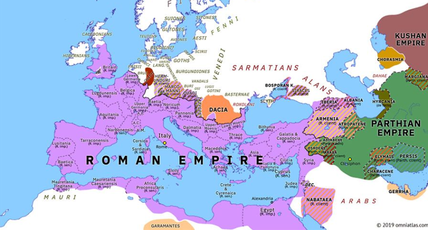 Roman Empire under Domitian Rule (89-96