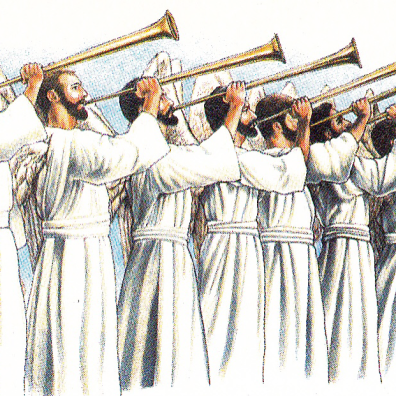 Seven trumpets blasted